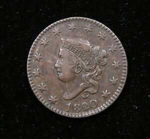 1820/19 LARGE CENT N1 R1     VF / XF