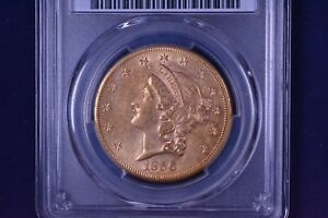 1856 S $20 LIBERTY HEAD GOLD DOUBLE EAGLE NO MOTTO PCGS AU 58 83230841