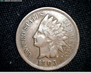 1903  INDIAN HEAD SMALL CENT PENNY A740