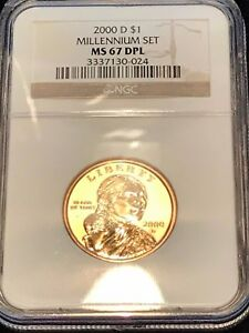 Click now to see the BUY IT NOW Price!  SUPER     MS67DPL   2000 D $1 MILLENNIUM SET SACAGAWEA DOLLAR   NGC SAC .
