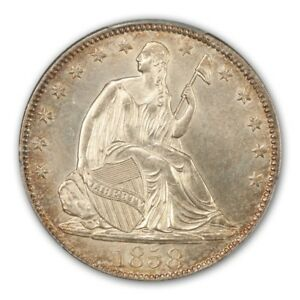 Click now to see the BUY IT NOW Price! 1858 O 50C LIBERTY SEATED HALF DOLLAR PCGS MS63