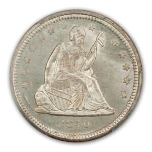 Click now to see the BUY IT NOW Price! 1840 25C DRAPERY LIBERTY SEATED QUARTER PCGS MS64   CAC
