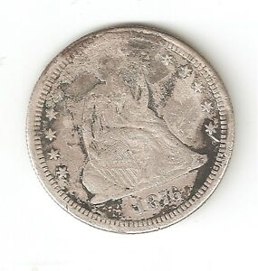 1876 CC SEATED LIBERTY QUARTER R DATE CARSON CITY ISSUE