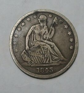 1843 O SEATED HALF DOLLAR VG F NICE COIN