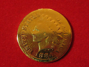 1884 INDIAN HEAD CENT GOLD PLATED