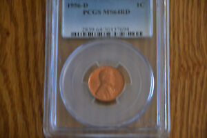 1956 D LINCOLN PENNY PCGS MS64RD