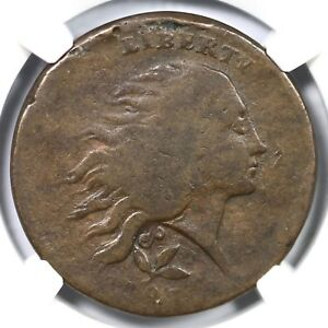 Click now to see the BUY IT NOW Price! 1793 NGC VG 8 PLAIN EDGE WREATH LARGE CENT COIN 1C