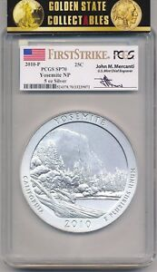Click now to see the BUY IT NOW Price! 2010 P ATB 5 0Z. SILVER YOSEMITE SP70 PCGS FIRST STRIKE MERCANTI LOW POP KEY