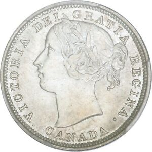 Click now to see the BUY IT NOW Price! 1858 CANADIAN SILVER 20 CENTS PCGS MS 64