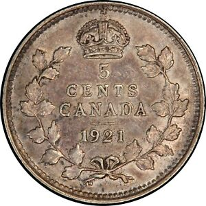 Click now to see the BUY IT NOW Price! 1921 CANADIAN SILVER 5 CENTS PCGS AU 53  PRINCE OF CANADIAN COINS
