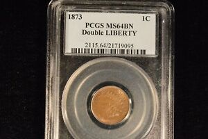 Click now to see the BUY IT NOW Price! 1873 DOUBLE LIBERTY INDIAN CENT 1C PCGS MS64BN    ALMOST RB