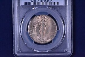 1946 D 50C WALKING LIBERTY HALF DOLLAR UNCIRCULATED PCGS MS 65 84364675