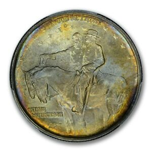 Click now to see the BUY IT NOW Price! STONE MOUNTAIN 1925 50C SILVER COMMEMORATIVE PCGS MS67 PQ TONER