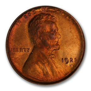 Click now to see the BUY IT NOW Price! 1925 D 1C LINCOLN CENT   TYPE 1 WHEAT REVERSE PCGS MS66RB PQ  CAC