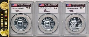 Click now to see the BUY IT NOW Price! 2016 2017 2018 W $100 PLATINUM EAGLES PCGS PR70 FIRST STRIKE MERCANTI'S 3 COINS