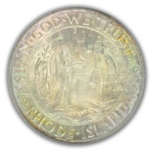 Click now to see the BUY IT NOW Price! RHODE ISLAND 1936 D 50C SILVER COMMEMORATIVE PCGS MS67 PQ OGH 2639 2  CAC