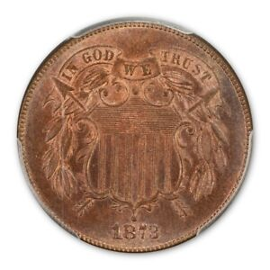 Click now to see the BUY IT NOW Price! 1873 2C OPEN 3 TWO CENT PIECE PCGS PR66RB