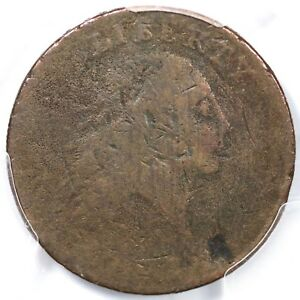1793 S 2 R 4  PCGS G DETAILS AMERICA CHAIN LARGE CENT COIN 1C
