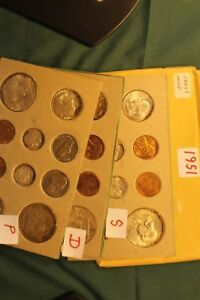 Click now to see the BUY IT NOW Price! 1951US DOUBLE MINT SETVERY COLORFUL CENTS AND BROWNISH MINT SET TONING