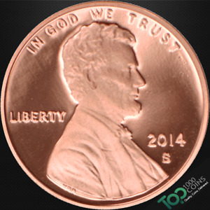 2014 S  1  LINCOLN SHIELD CENT   PR SOLID GEM PROOF RED DEEP CAMEO   524419BBG