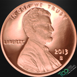 2013 S  1  LINCOLN SHIELD CENT   PR GEM PROOF RED DEEP CAMEO   517525BAG