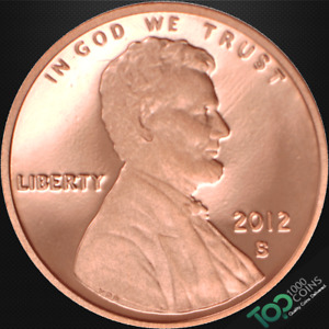 2012 S  1  LINCOLN SHIELD CENT   PR GEM PROOF RED DEEP CAMEO   511252BAG