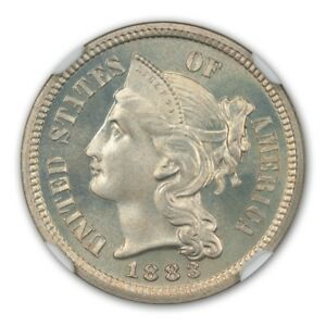 Click now to see the BUY IT NOW Price! 1883 3CN THREE CENT NICKEL NGC PR68