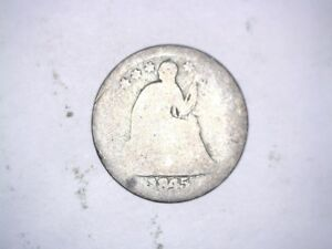 X 1845 UNITED STATES PHILADELPHIS LIBERTY SEATED STARS OBVERSE SILVER HALF DIME