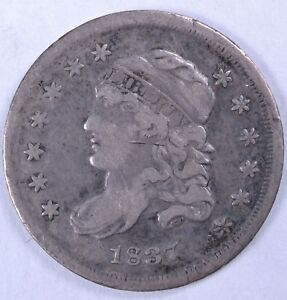 1837 H10C CAPPED BUST HALF DIME   VF