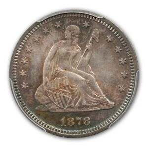Click now to see the BUY IT NOW Price! 1878 S 25C LIBERTY SEATED QUARTER PCGS MS65