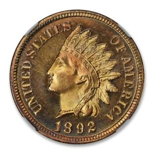 Click now to see the BUY IT NOW Price! 1892 BRONZE INDIAN CENT 1C NGC PR67 RD CAM 2756 36