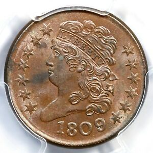 Click now to see the BUY IT NOW Price! 1809/6 C 5 PCGS MS 63 BN CLASSIC HEAD HALF CENT COIN 1/2C