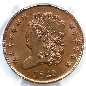 Click now to see the BUY IT NOW Price! 1825 C 2 PCGS MS 64 BN CLASSIC HEAD HALF CENT COIN 1/2C