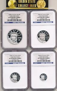 Click now to see the BUY IT NOW Price! 2008 W $100 $50 $25 $10 PROOF PLATINUM SET NGC PF70 UCAM EARLY RELEASES THE BEST