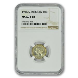 Click now to see the BUY IT NOW Price! 1916 S MERCURY DIME 10C NGC MS67 FB