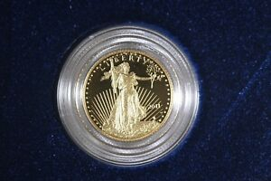 2011 W $5 1/10TH OZ GOLD AMERICAN EAGLE PROOF   OGP WITH THE COA