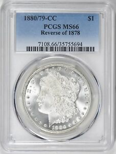 Click now to see the BUY IT NOW Price! MONSTER 1880 CC 80OVER79 REVERSE OF 1878 MORGAN S$1 PCGS MS 66 VAM4 TOP 100 PQ