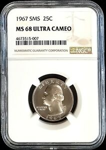 Click now to see the BUY IT NOW Price! 1967 SMS WASHINGTON QUARTER CERTIFIED MS 68 ULTRA CAMEO BY NGC