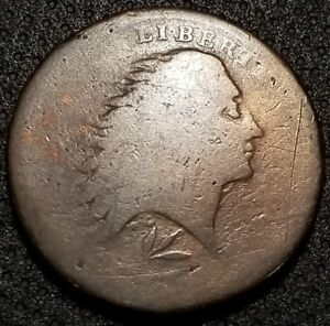 1793 LARGE CENT WREATH STYLE/LETTERED EDGE S 11B R 4