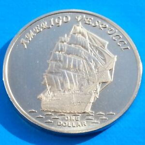 GILBERT ISLANDS 1 DOLLAR 2017 UNC AMERIGO VESPUCCI SAILING SHIP KIRIBATI UNUSUAL