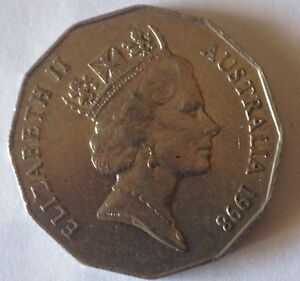 1998 AUSTRALIAN 50 CENT COIN BASS AND FLINDERS CIRCULATED