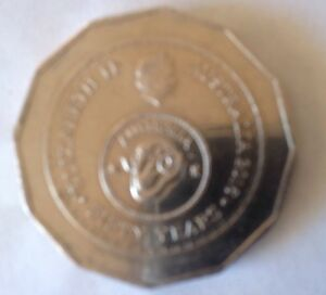 2016 AUSTRALIAN 50 CENT COIN ANNIVERSARY OF DECIMAL CURRENCY CIRCULATED