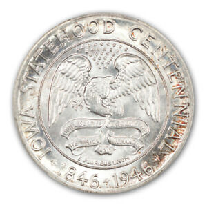 Click now to see the BUY IT NOW Price! IOWA 1946 50C SILVER COMMEMORATIVE PCGS MS68