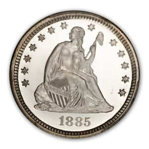 Click now to see the BUY IT NOW Price! 1885 25C LIBERTY SEATED QUARTER PCGS PR68CAM  CAC