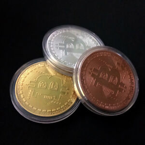 LOT OF 3 BITCOIN COMMEMORATIVE ROUND COLLECTORS BTC PHYSICAL COIN GTC