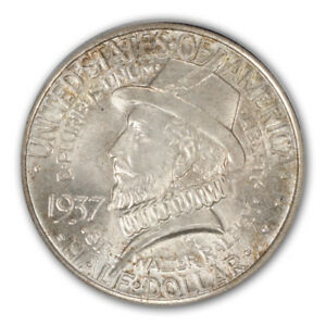 ROANOKE 1937 50C SILVER COMMEMORATIVE PCGS MS66
