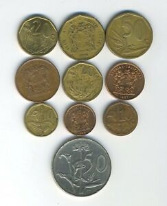 SOUTH AFRICA   LOT OF 10 DIFFERENT COINS   GREAT STARTER   LOT SA 40