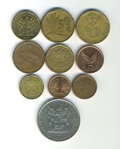 SOUTH AFRICA   LOT OF 10 DIFFERENT COINS   GREAT STARTER   LOT SA 41