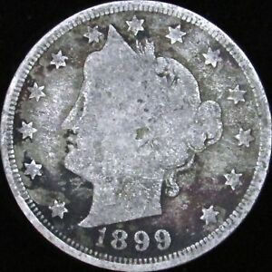 1899 LIBERTY V NICKEL IN A SAFLIP   VG   GOOD