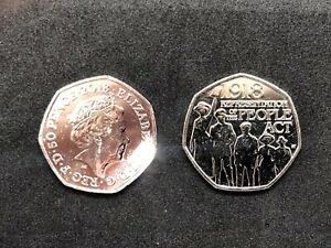 REPRESENTATION OF THE PEOPLE ACT 1918   50P FIFTY PENCE COIN 2018